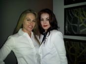 Filmmaker Christy Oldham and Priscilla Presley attend Saving Tails Charity Event