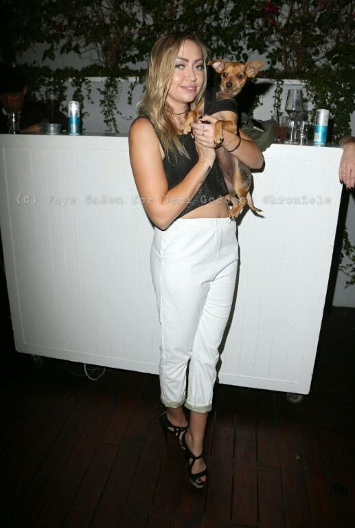 Actress Brandi Cyrus gets cozy with 'Honey'. Photo Credit: Faye Sadou/DemiGoddess Chronicle