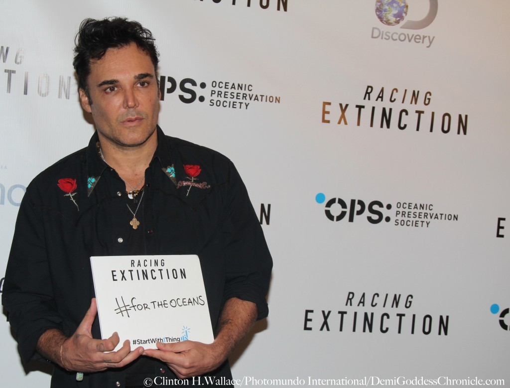 "David LaChapelle attend the Los Angeles Premiere of ""Racing Extinction"" ©Clinton H.Wallace/Photomundo International/DemiGoddessChronicle.com"