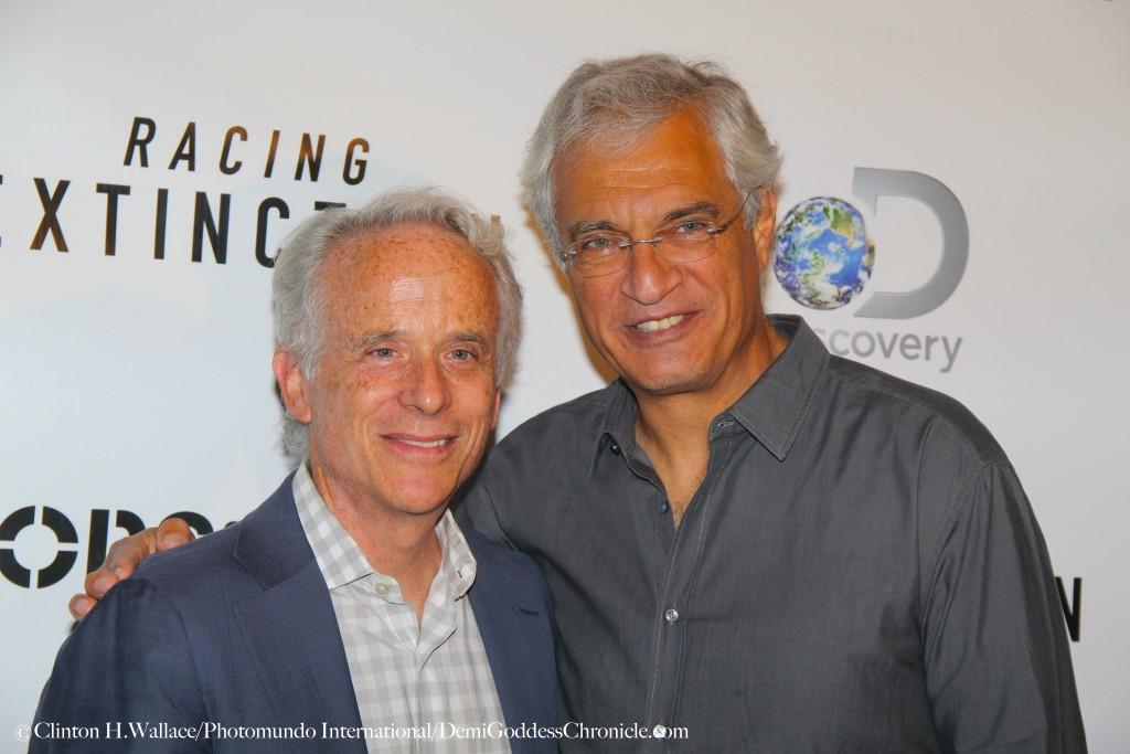 "John Hoffman & Louis Psihoyos attend the Los Angeles Premiere of ""Racing Exctinction"""