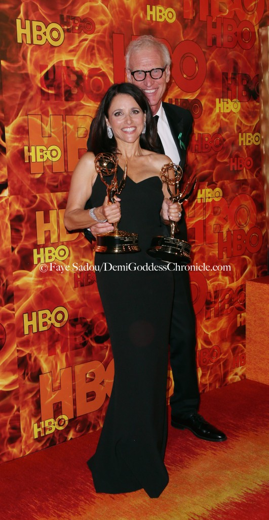 Julia Louis-Dreyfus and Brad Hall Attend HBO's Official 2015 Emmy After Party At Pacific Design Center