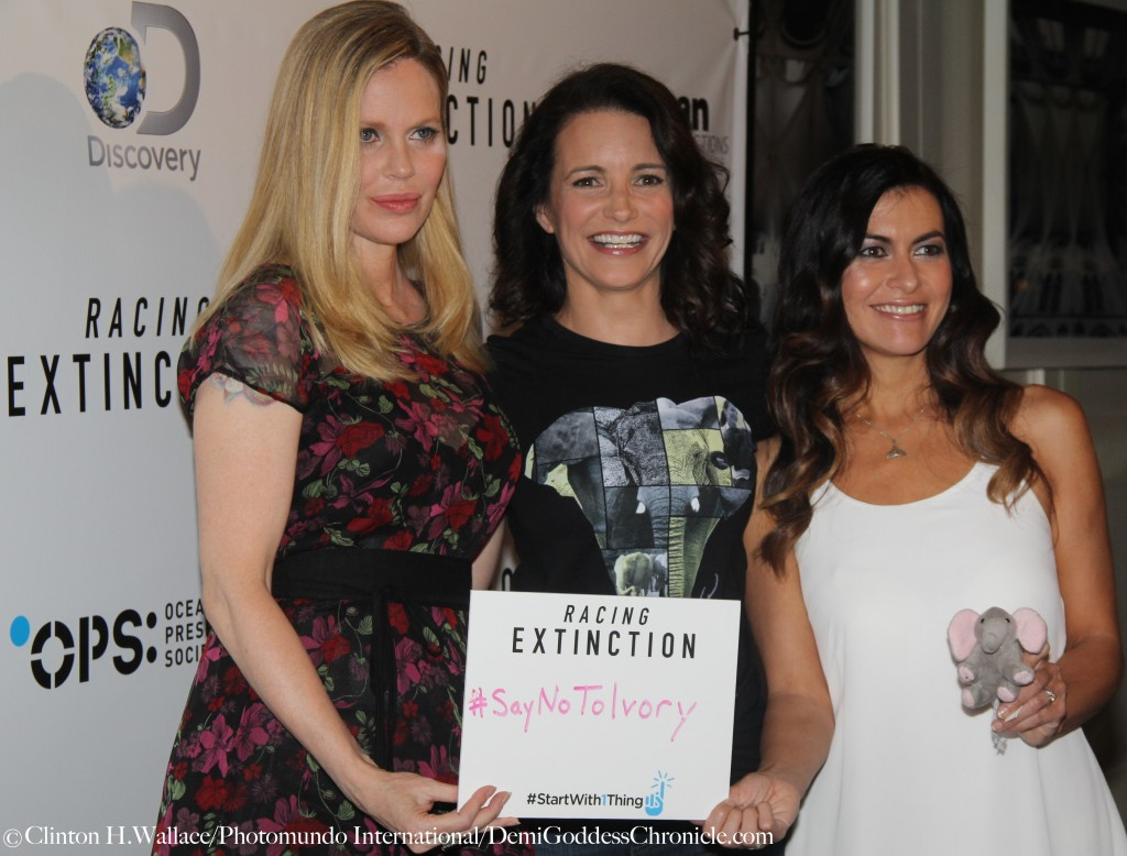 "Kristin Bauer van Straten, Kristin Davis and Leilani Münter attend the Los Angeles Premiere of  ""Racing Exctinction"" ©Clinton H.Wallace/Photomundo International/DemiGoddessChronicle.com"