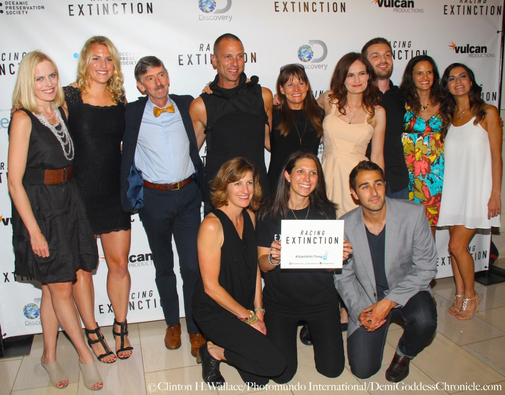 "Lucy Shiels, Leilani Münter Adrienne Hall and ""Racing Extinction"" production team attend the Los Angeles Premiere of ""Racing Extinction"""