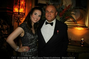 Vida Ghaffari and Nigel Daly OBE. Photo Credit: Clinton H. Wallace/DemiGoddess Chronicle