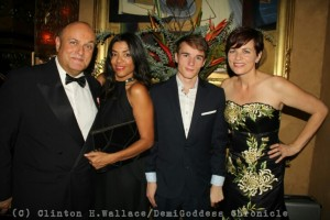 Nigel Daly OBE, Emma Ferreira, Max Daly and Louise Salter. Photo Credit: Clinton H. Wallace/DemiGoddess Chronicle