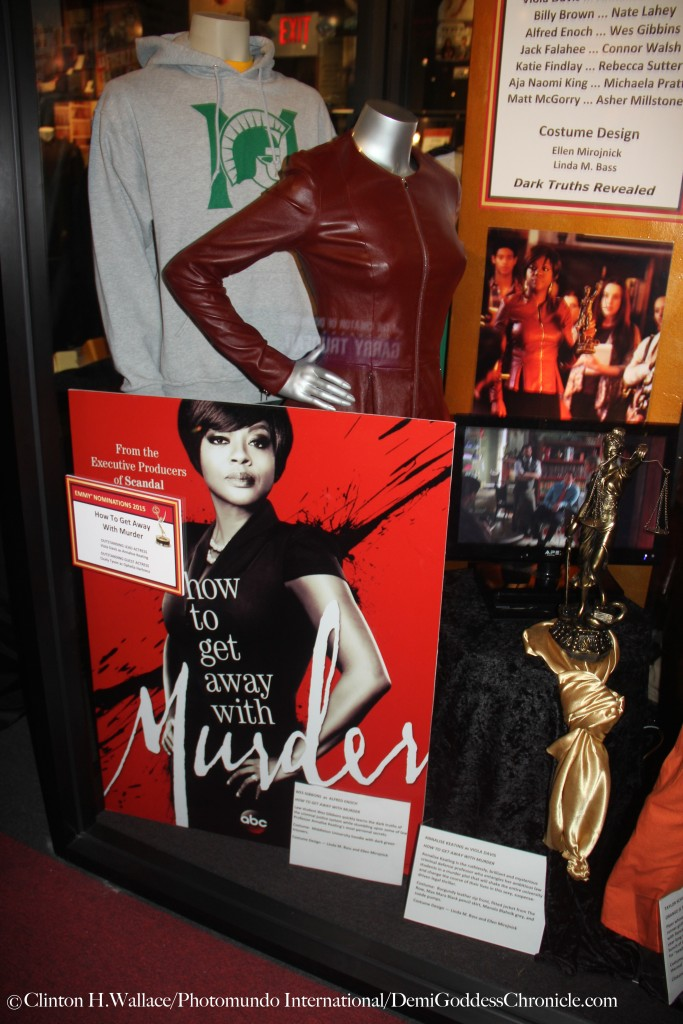 "Costumes & Set Props from the Emmy Nominated Television Show ""How To Get Away With Murder"" on display at The Hollywood Museum's ""THE BEST IN TELEVISION"" EMMYS 2015 Celebration"