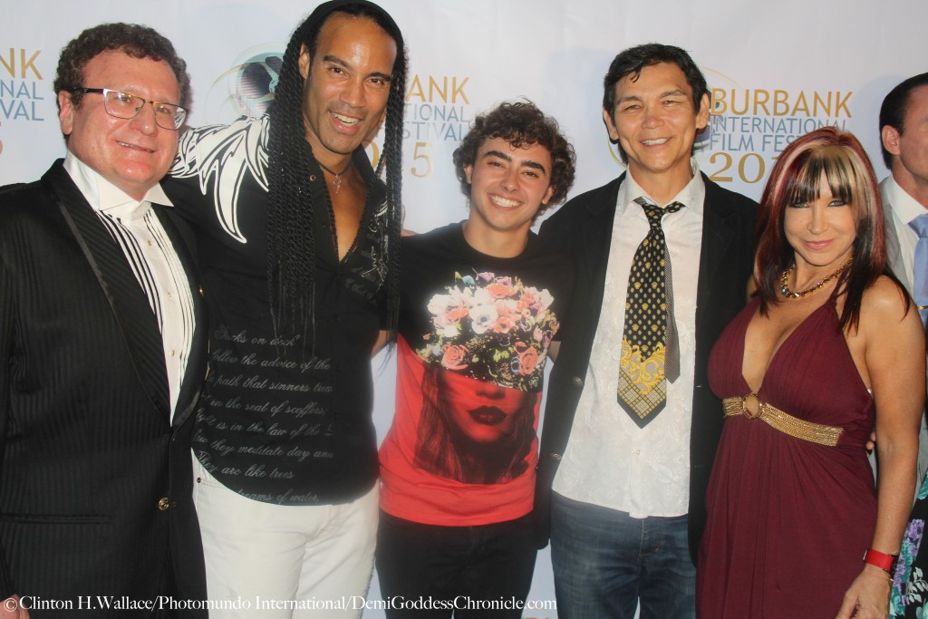 "Dr. Robert Goldman, T.J. Storm, Jansen Panettiere, Don ""The Dragon"" Wilson & Cynthia Rothrock attend the Los Angeles Premiere of ""The Martial Arts Kid"" at the 2015 Burbank International Film Festival ©Clinton H.Wallace/Photomundo International/DemiGoddessChronicle.com"