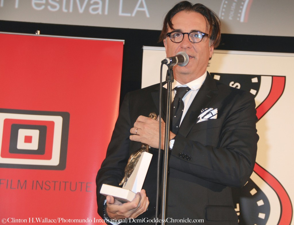 Andy Garcia was receives  the Pola Negri Award at the 16th Annual Polish Film Festival LA ©Clinton H.Wallace/Photomundo International/DemiGoddessChronicle.com