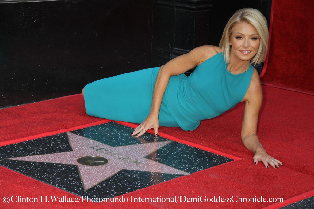 "Kelly Ripa co-host of  ""Live with Kelly & Michael was honored with a Star on the Hollywood Walk of Fame ©Clinton H.Wallace/Photomundo International/DemiGoddessChronicle.com"