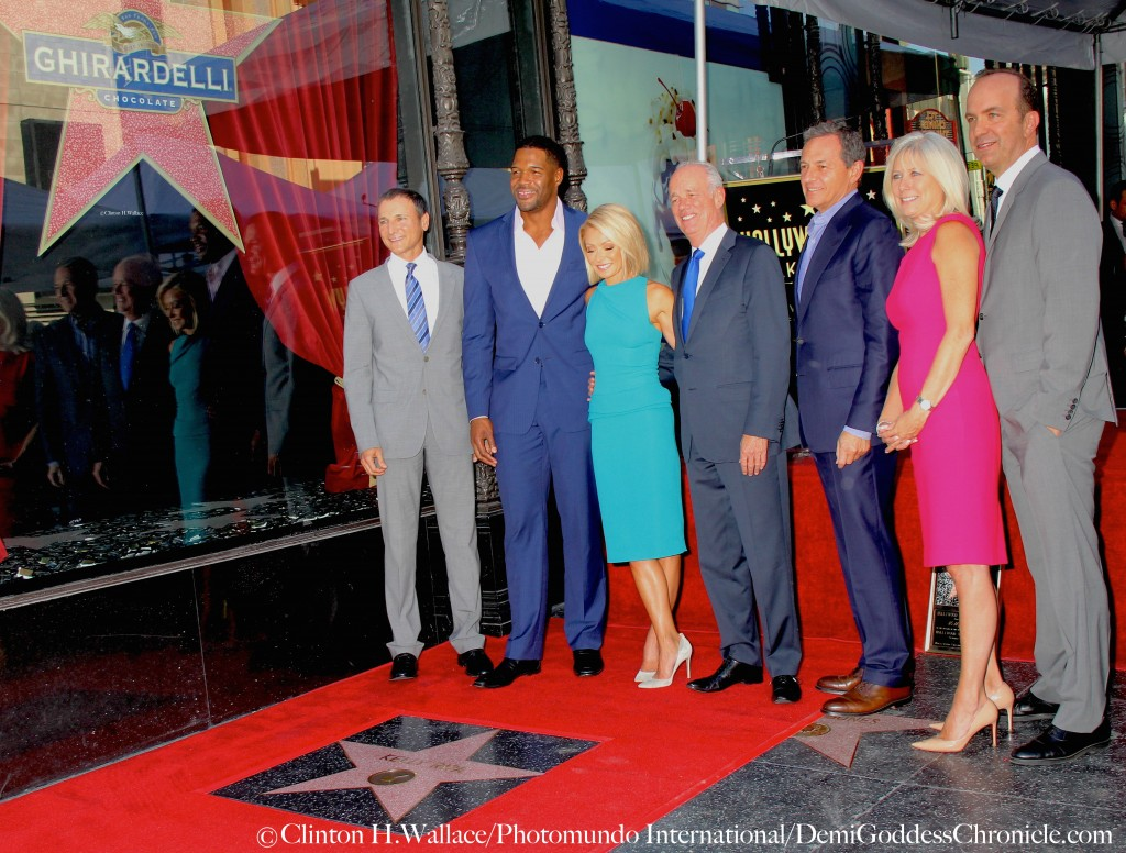 Michael Gelman & Michael Strahan along with Bob Iger and Disney Executives celebrate with Kelly Ripa at her Walk Of Fame Star Ceremony ©Clinton H.Wallace/Photomundo International/DemiGoddessChronicle.com