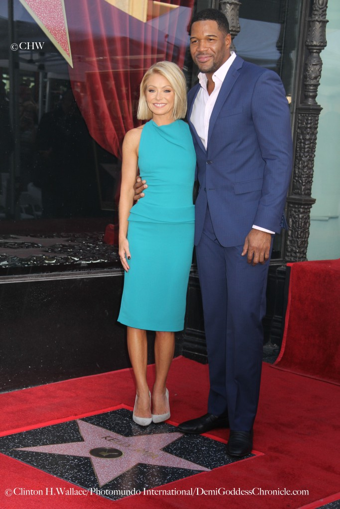 Kelly Ripa celebrate with Co-host Michael Strahan at her Hollywood Walk Of Fame Star dedication ceremony ©Clinton H.Wallace/Photomundo International/DemiGoddessChronicle.com