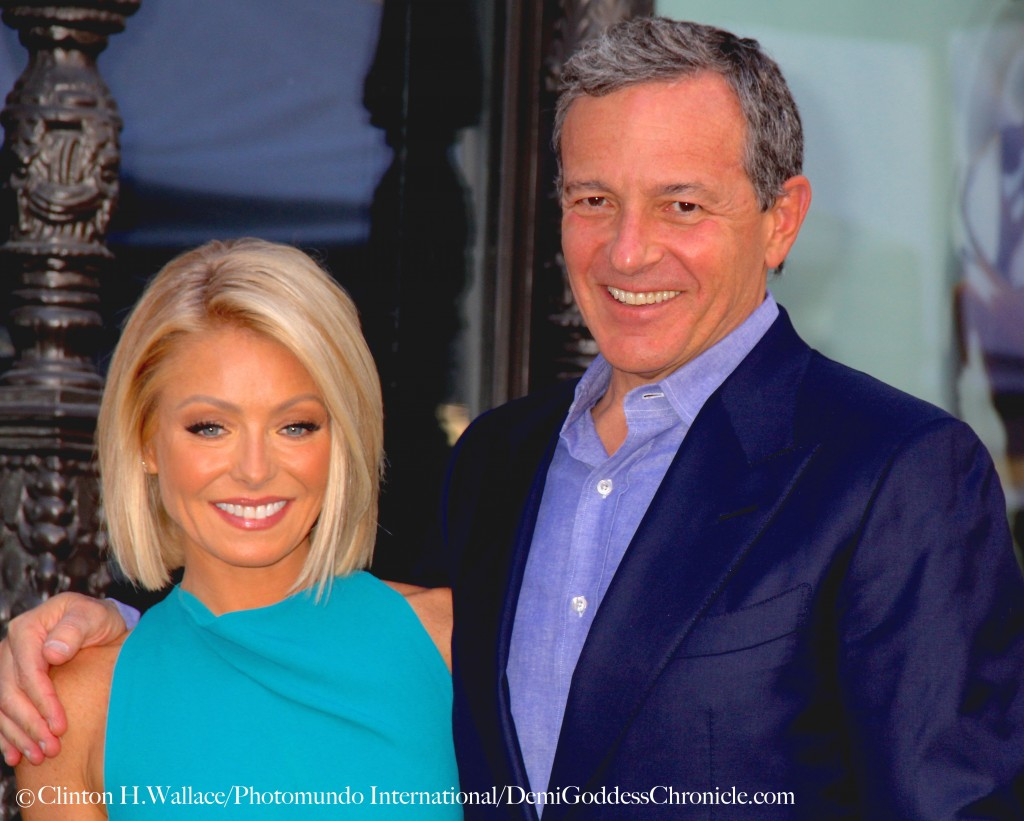 Bob Iger was one of the many Disney executives on hand to congratulate Kelly Ripa at her Hollywood Walk of Fame Star dedication ceremony ©Clinton H.Wallace/Photomundo International/DemiGoddessChronicle.com