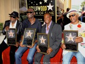 "Celebration Time as Ronald Khalis Bell, Dennis ""DT"" Thomas, Robert ""Kool"" Bell, George Brown of the Iconic band Kool & The Gang receive their Star on The Legendary Hollywood Walk Of Fame Photo Credit: Clinton H.Wallace/Photomundo International/DemiGoddessChronicle.com"