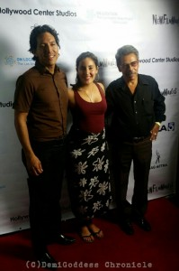"""Dream Has No Friend"" Director Lorena Endara, Producer Edvardo Arenar and Actor Francisco Leon. Photo Credit: DemiGoddess Chronicle"