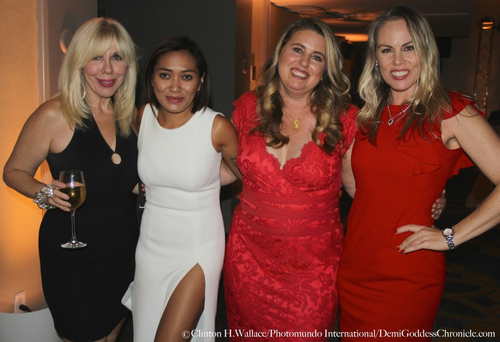 Realtor Sandi Margolis, Designer Pia Gladys Perey, Veterinarian Nichole Agarwal D.W.M. and Film Producer Christy Oldham. Photo Credit: Clinton H. Wallace/Photomundo International/ DemiGoddess Chronicle