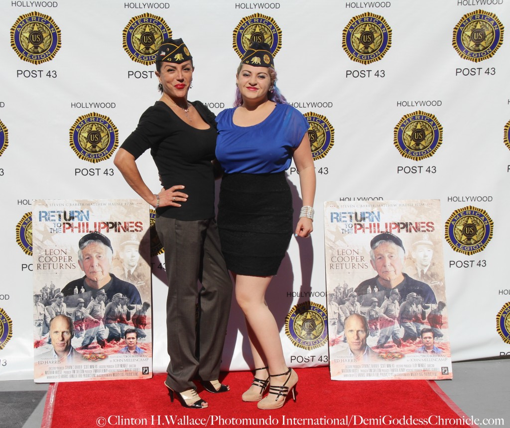 "Jeanette St. John & Danielle Elizabeth Baker attend ""Return to the Philippines: The Leon Cooper Story"" Veterans Day 2015 Celebration at American Legion Post 43, Hollywood, CA ©Clinton H.Wallace/Photomundo International/DemiGoddessChronicle"