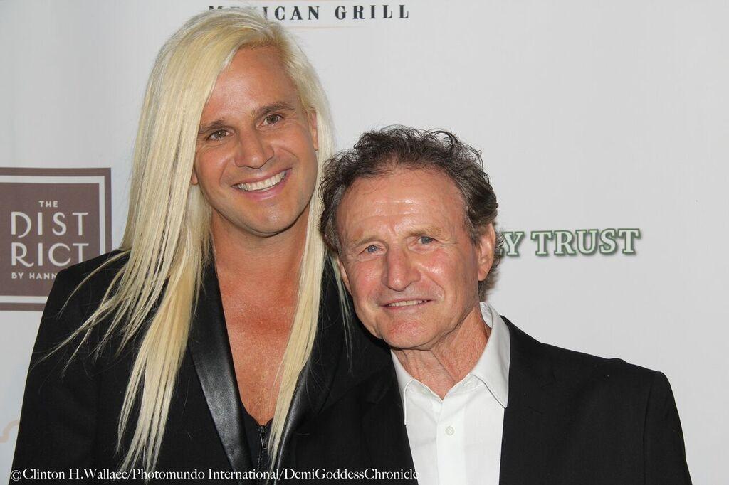 Daniel DiCriscio with his Dad. Photo Credit: Clinton H. Wallace/DemiGoddess Chronicle