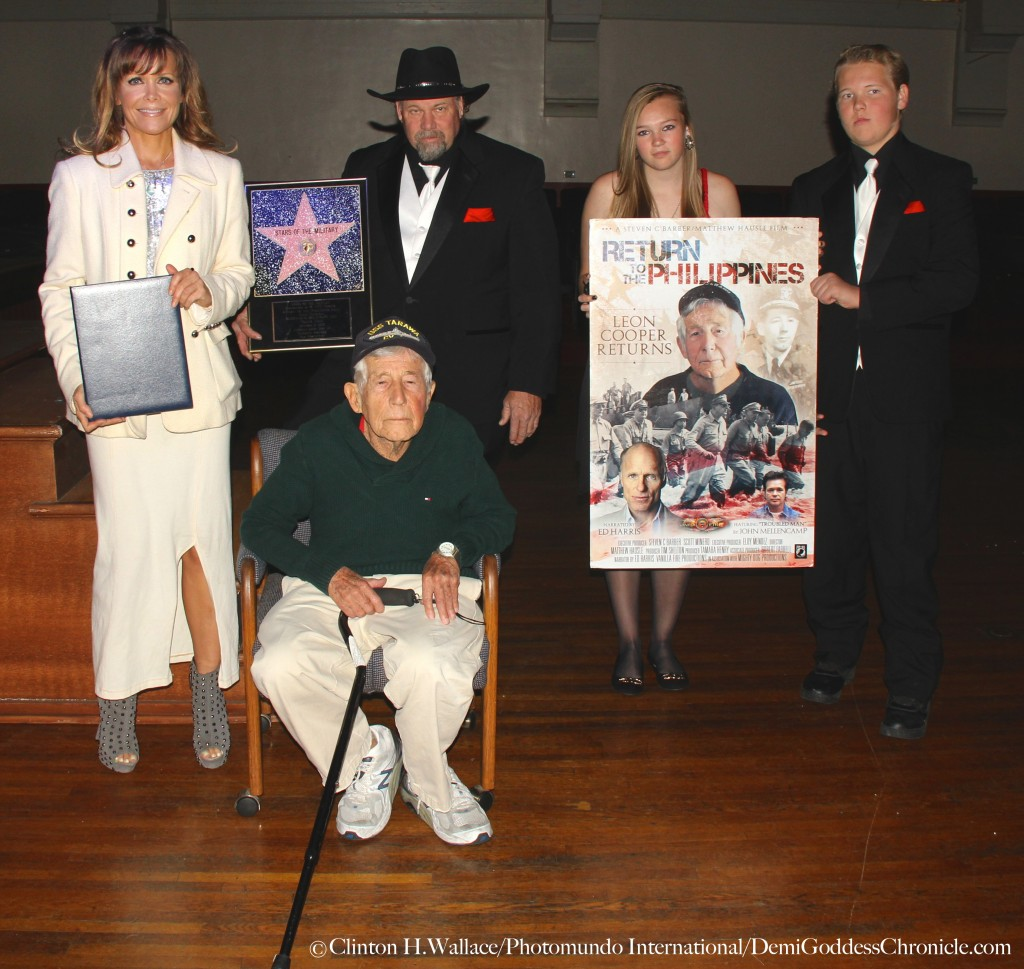 """Vanilla Sky's Tamara Henry, Leon Cooper, Kenny C. and family attend """"Return to the Philippines: The Leon Cooper Story"""" Veterans Day 2015 Celebration at American Legion Post 43, Hollywood, CA ©Clinton H.Wallace/Photomundo International/DemiGoddessChronicle"""