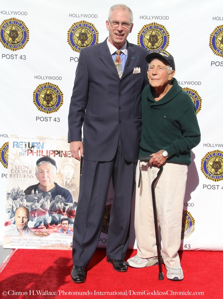"Gerald C. Paulsen (Paulsen Productions,Inc./President) and  Leon Cooper,  attend ""Return to the Philippines: The Leon Cooper Story"" Veterans Day 2015 Celebration at American Legion Post 43, Hollywood, CA ©Clinton H.Wallace/Photomundo International/DemiGoddessChronicle"