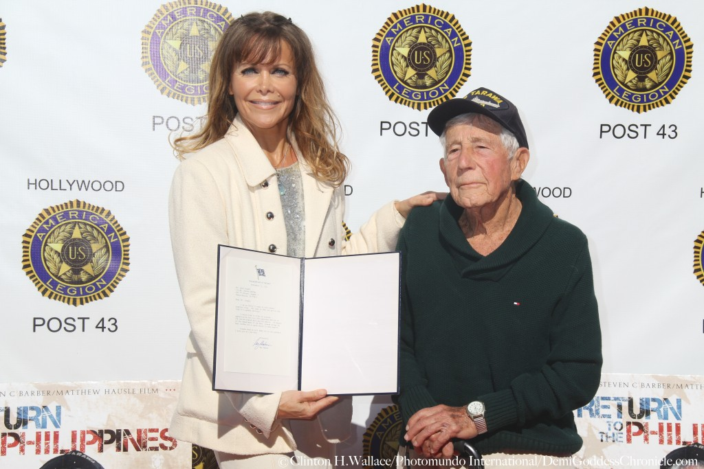 """Vanilla Fire Production's Tamara Henry and  Leon Cooper,  attend """"Return to the Philippines: The Leon Cooper Story"""" Veterans Day 2015 Celebration at American Legion Post 43, Hollywood, CA ©Clinton H.Wallace/Photomundo International/DemiGoddessChronicle"""