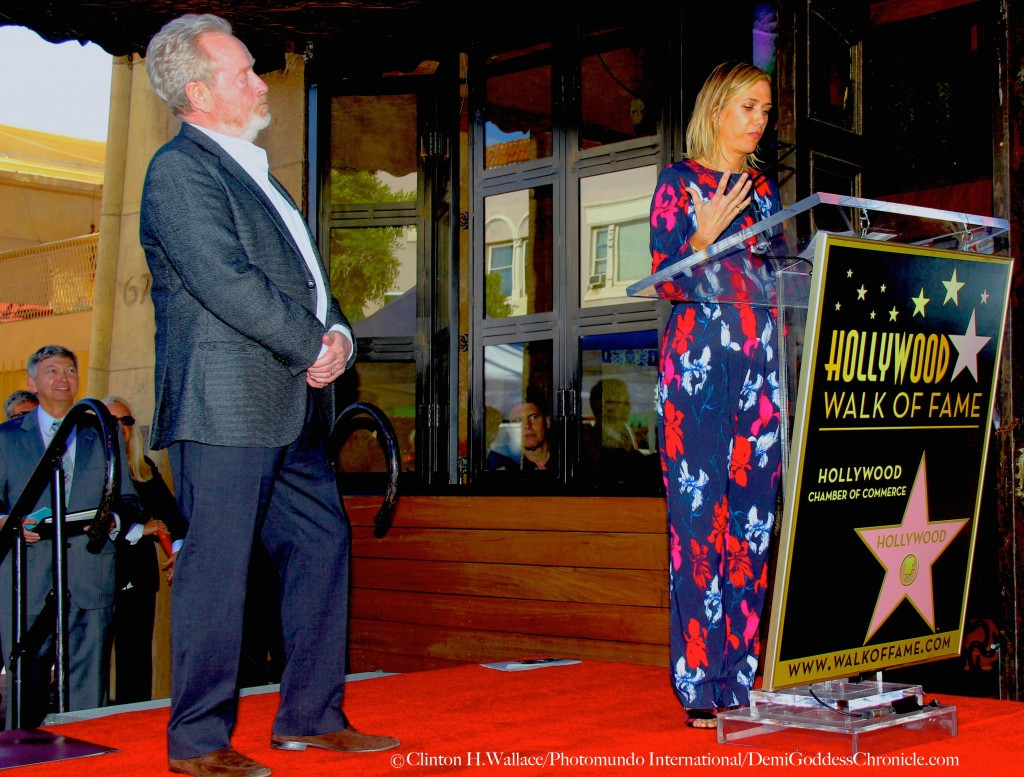 Guest Speakers Kristen Wiig (The Martian) honoured Sir Ridley Scott at the event with a very moving speech