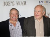 Joe's War director Phil Falcone and Actor Ed Asner. Photo Credit: Clinton H Wallace/DemiGoddess Chronicle