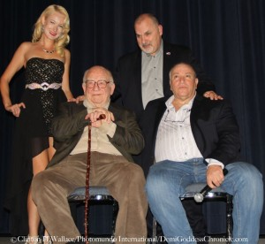 Q&A after screening with Actress Tina Grimm, Actor Joe Lisi, Ed Asner and Joe's War director Phil Falcone. Photo Credit: Clinton H Wallace/DemiGoddess Chronicle