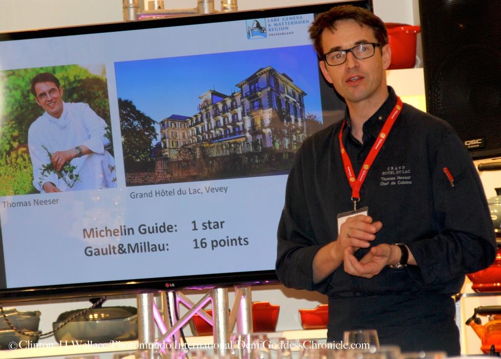 Award-Winning Chef Thomas Neeser of Grand Hotel Du Lac, Vevey.  ©Clinton H.Wallace/Photomundo International/DemiGoddessChronicle.com