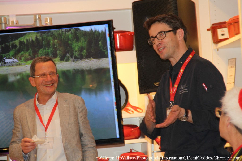 Francois Michel &  Award Winning Chef Thomas Neeser