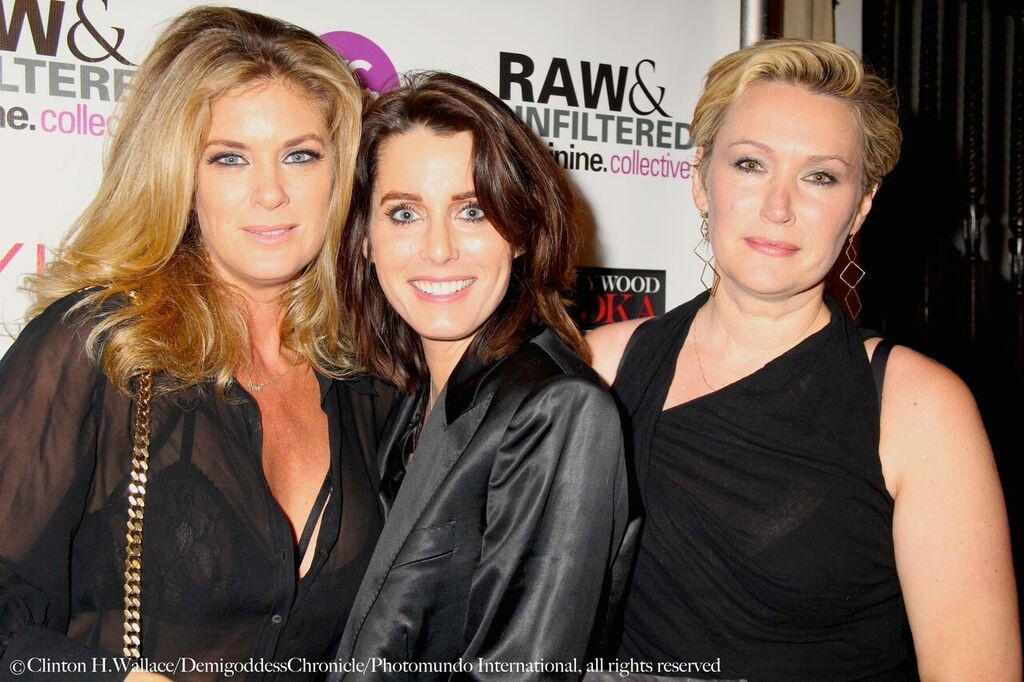 Rachel Hunter with Feminine Collective Founders Julie Anderson & Marla Carlton. ©Clinton H.Wallace/DemigoddessChronicle/Photomundo International, all rights reserved