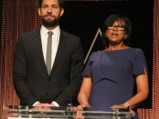 Cheryl Boone Isaacs, the president of the academy and actor John Krasinski announce the 2016 list of Oscar Nominess ©Clinton H.Wallace/DemiGoddessChronicle/Photomundo