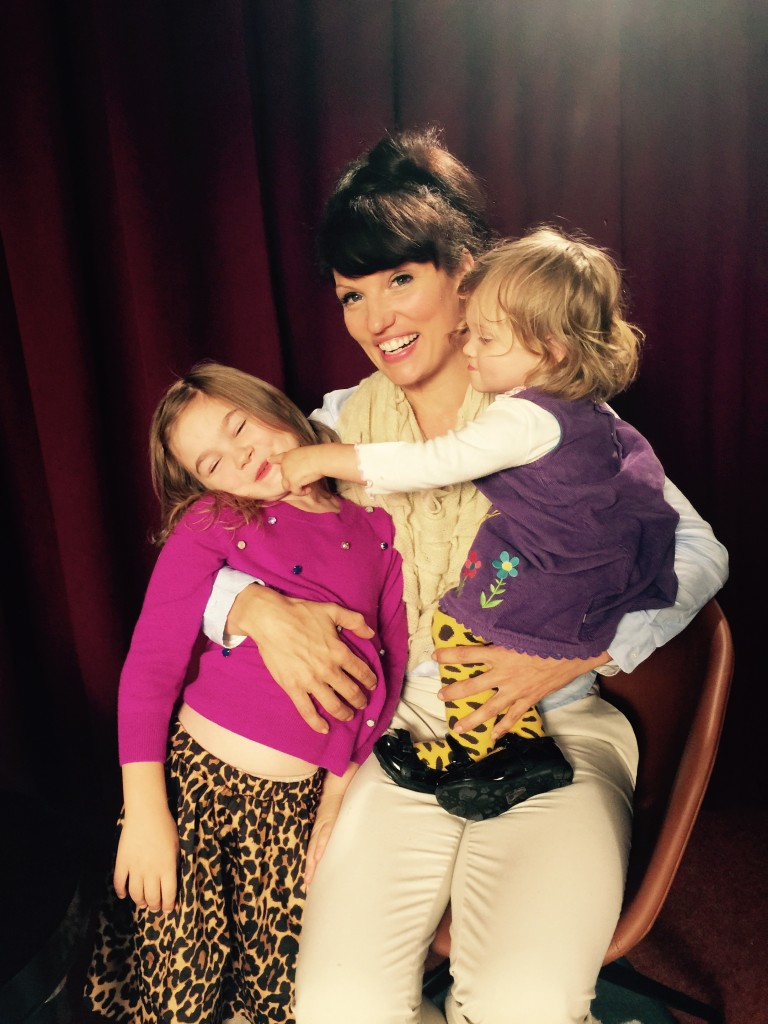 "Maise Angle, Camille & Charlie on set of ""MILF & COOKIES""  Talk Show on PYPO Comedy TV Photo Credit: Roderick Angle"
