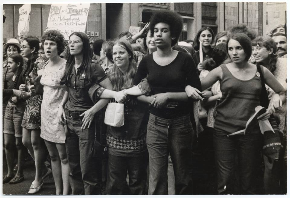 Womens Rights Protesters circa 1960's. Photo courtesy of She's Beautiful When She's Angry movie on Facebook