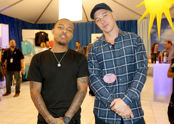 58th Annual GRAMMY Awards® - Rapper Shad 'Bow Wow' Moss and DJ Diplo attend the Distinctive Assets GRAMMY Gift Lounge. Photo Courtesy of Distinctive Assets Photo Credit: Imeh Akpanudosen/WireImage