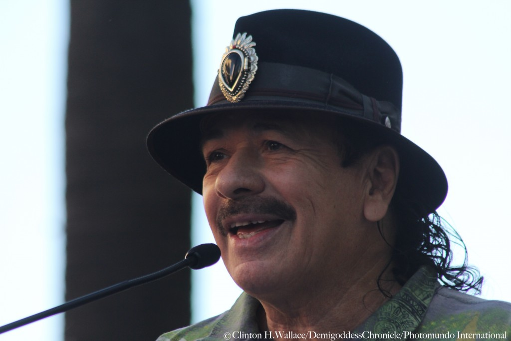 The Legendary Carlos Santana was a guest speaker at the Mana' Star Ceremony ©Clinton H.Wallace/DemiGoddessChronicle/Photomundo International