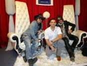 58th Annual GRAMMY Awards® - Musician Johnny Depp and Joe Perry of The Hollywood Vampires attend the Distinctive Assets GRAMMY Gift Lounge. Photo Courtesy of Distinctive Assets Photo Credit: Imeh Akpanudosen/WireImage