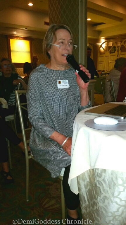 Professor & contemporary artist and WPW guest speaker Nancy Monk. Photo credit: Demi Goddess Chronicle