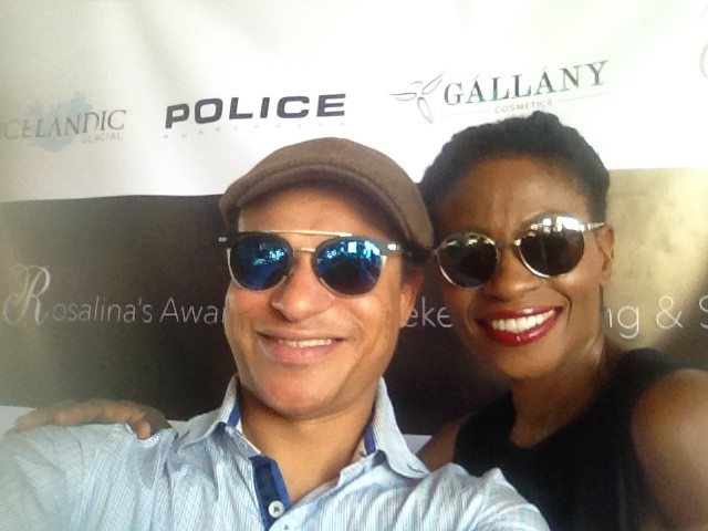 True Blood's Adina Porter & Clinton H. Wallace in Police Eyewear Credit: @Photomundo/Instagram
