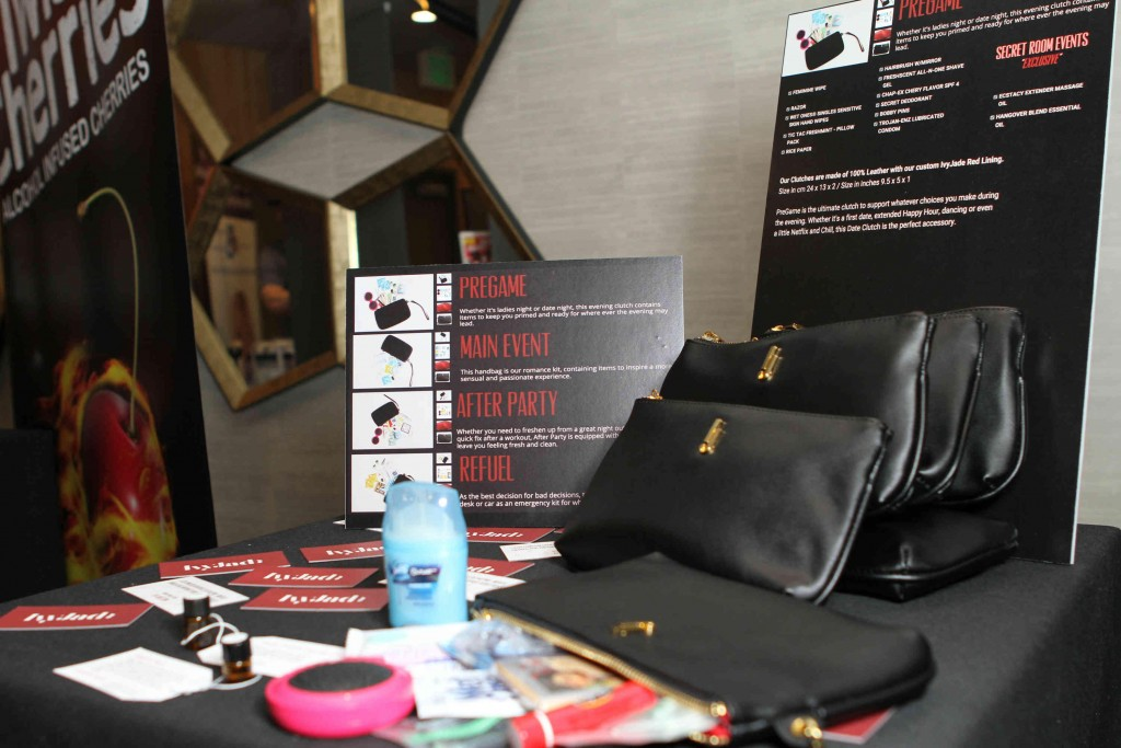IVYJADE HANDBAG Display at The Secret Room's 2016 Pre-Awards Red Carpet Style & Beauty Lounge Photo Credit: JC Olivera Photography