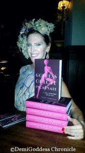 Leslie Zemeckis poses with her new book Goddess of Love Incarnate. Photo credit: Demi Goddess Chronicle