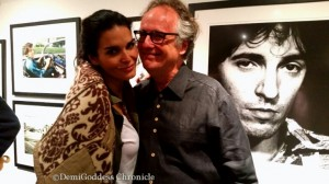 Springsteen fan & Actress Angie Harmon with Patrick Harbron. Photo by: Demi Goddess Chronicle