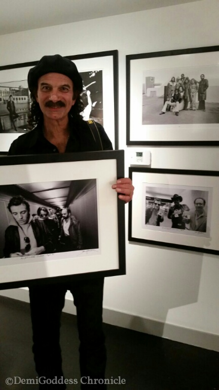 Jim Marchese holding his signed limited edition Springsteen Print. Photo by: Demi Goddess Chronicle