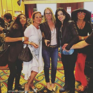 Goddesses in attendance: Artist Emma Ferreira, Singer Mereedes Ganon, Film Producer Christy Oldham, Niurka and painter Seraphine. Photo credit: Neal Cohen for Demi Goddess Chronicle