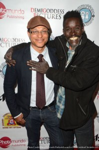 Clinton H. Wallace and musician Ali Baba. Photo credit: David Edwards/DailyCeleb.com for DemiGoddessChronicle.com