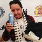 Actor Carlos Ramzey Ramirez enjoying Monster Energy. Photo Credit: David Edwards/DailyCeleb.com for DemiGoddessChronicle.com