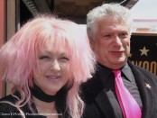 Harvey Fierstein & Cyndi Lauper at the Double Star Ceremony ©Clinton H.Wallace/Photomundo International/Demigoddess Chronicle