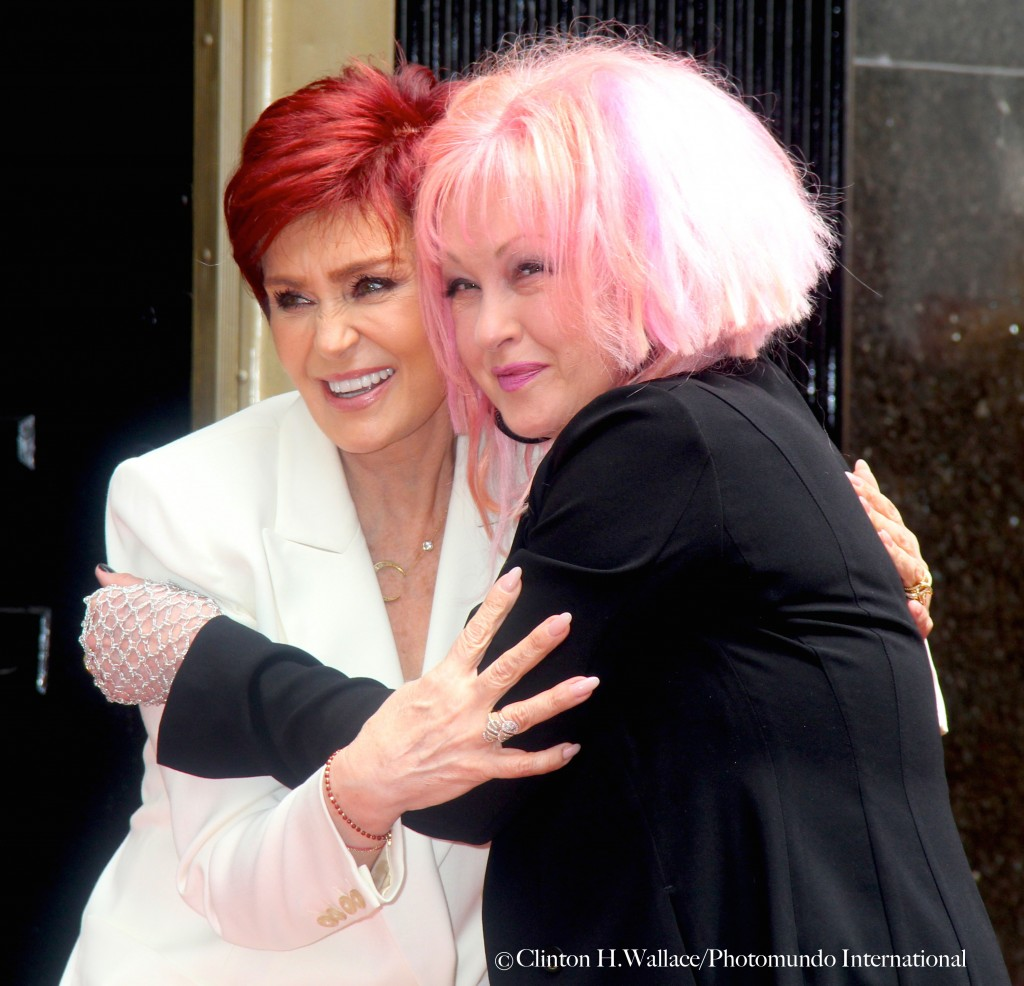 'Girls Just Wanna Have Fun' - Sharon Osbourne joined Cyndi Lauper in her Hollywood Walk Of Fame Star Celebration ©Clinton H.Wallace/Photomundo International/Demigoddess Chronicle