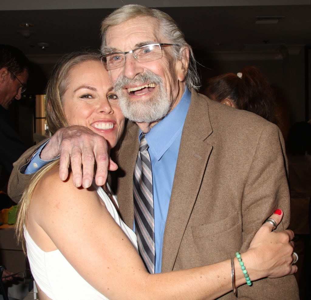 Filmmaker & Demigoddess Vape founder Christy Oldham with Academy Award Winner Martin Landau. Photo credit: Clinton H. Wallace/DemiGoddessChronicle.com