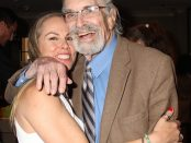 Christy Oldham gets a big hug from Academy Award Winner Martin Landau. Photo credit: Clinton H. Wallace/DemiGoddessChronicle.com