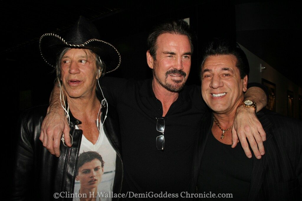 Mickey Rourke, Director Gary Stretch and Chuck Zito. Photo credit: Clinton H. Wallace/DemiGoddessChronicle.com